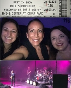 Christina attended Rick Springfield Presents Best in Show 2018 With Loverboy, Greg Kihn, & Tommy Tutone, Welcomed by 103. 5 Bobfm on Nov 2nd 2018 via VetTix