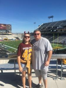 Jerry attended Arizona State Sun Devils vs Utah - NCAA Football on Nov 3rd 2018 via VetTix
