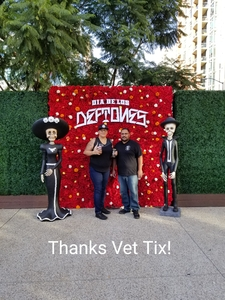 KENNETH attended Dia De Los Deftones - Heavy Metal on Nov 3rd 2018 via VetTix