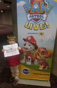 Joel attended Paw Patrol Live! Race to the Rescue - Presented by Vstar Entertainment on Nov 25th 2018 via VetTix