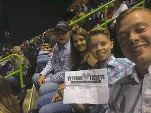 Ronnie attended The Professional Bull Riders Velocity Tour on Dec 1st 2018 via VetTix