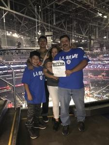 Corey attended Los Angeles Clippers vs Minnesota Timberwolves - NBA - Military Monday on Nov 5th 2018 via VetTix