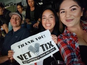 Katrina attended Los Angeles Clippers vs Minnesota Timberwolves - NBA - Military Monday on Nov 5th 2018 via VetTix