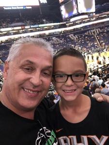 Ron attended Phoenix Suns vs. Memphis Grizzlies - NBA on Nov 4th 2018 via VetTix