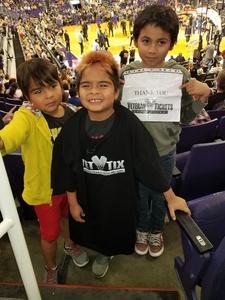 Lorenzo attended Phoenix Suns vs. Memphis Grizzlies - NBA on Nov 4th 2018 via VetTix