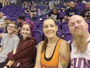 Jim attended Phoenix Suns vs. Memphis Grizzlies - NBA on Nov 4th 2018 via VetTix