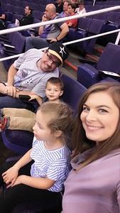 Kyle attended Phoenix Suns vs. Memphis Grizzlies - NBA on Nov 4th 2018 via VetTix