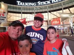 Luis attended Phoenix Suns vs. Memphis Grizzlies - NBA on Nov 4th 2018 via VetTix