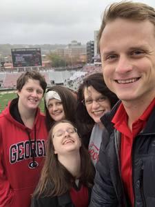 Tracy attended University of Georgia vs. Georgia Tech - NCAA Football on Nov 24th 2018 via VetTix