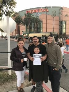 Corey attended Anaheim Ducks vs. Columbus Blue Jackets - NHL - Antis Roofing Community Corner on Nov 4th 2018 via VetTix