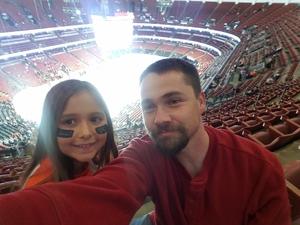 Nicholas attended Anaheim Ducks vs. Columbus Blue Jackets - NHL - Antis Roofing Community Corner on Nov 4th 2018 via VetTix