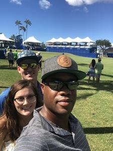 Demetre attended Sony Open in Hawaii - PGA Tour at Waialae Country Club - *see Notes on Jan 7th 2019 via VetTix