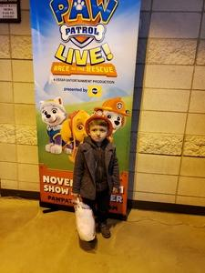 Miguel attended Paw Patrol Live! Race to the Rescue - Presented by Vstar Entertainment on Nov 10th 2018 via VetTix