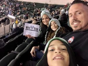 Joseph attended Texas Stars vs San Antonio Rampage - Military Appreciation Game - AHL on Nov 10th 2018 via VetTix