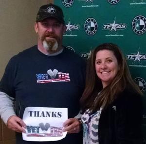 Christopher attended Texas Stars vs San Antonio Rampage - Military Appreciation Game - AHL on Nov 10th 2018 via VetTix