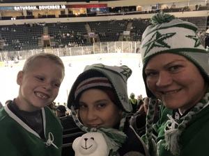 Jill attended Texas Stars vs San Antonio Rampage - Military Appreciation Game - AHL on Nov 10th 2018 via VetTix