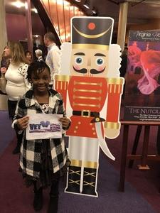 Tonia attended The Nutcracker Performed By the Virginia National Ballet on Nov 23rd 2018 via VetTix