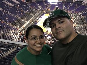 Jeanette attended Phoenix Suns vs. Boston Celtics - NBA on Nov 8th 2018 via VetTix