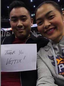 Jeffery attended Phoenix Suns vs. Boston Celtics - NBA on Nov 8th 2018 via VetTix