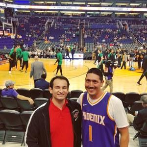 Kenneth attended Phoenix Suns vs. Boston Celtics - NBA on Nov 8th 2018 via VetTix