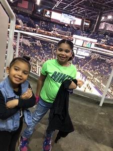 Denisse attended Phoenix Suns vs. Boston Celtics - NBA on Nov 8th 2018 via VetTix