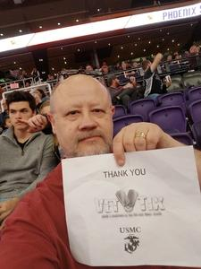 Brian attended Phoenix Suns vs. San Antonio Spurs - NBA on Nov 14th 2018 via VetTix
