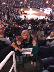 Debra attended Phoenix Suns vs. San Antonio Spurs - NBA on Nov 14th 2018 via VetTix