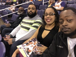 Rafael attended Phoenix Suns vs. San Antonio Spurs - NBA on Nov 14th 2018 via VetTix