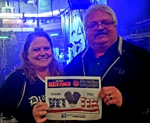 Charles attended Breaking Benjamin and Five Finger Death Punch - Alternative Rock on Nov 23rd 2018 via VetTix