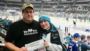 John attended San Jose Sharks vs. Toronto Maple Leafs on Nov 15th 2018 via VetTix