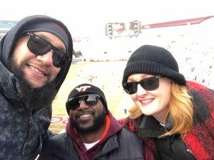 Lisa attended Virginia Tech University Hokies vs. Virginia Cavaliers - NCAA Football on Nov 23rd 2018 via VetTix