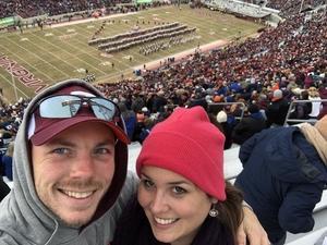 Daniel attended Virginia Tech University Hokies vs. Virginia Cavaliers - NCAA Football on Nov 23rd 2018 via VetTix