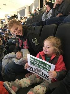 Heidi attended Milwaukee Bucks vs. Memphis Grizzlies - NBA - Military Appreciation Night! on Nov 14th 2018 via VetTix