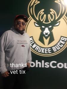 CHARLES attended Milwaukee Bucks vs. Memphis Grizzlies - NBA - Military Appreciation Night! on Nov 14th 2018 via VetTix