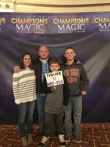gary attended Champions of Magic - Saturday Matinee on Dec 1st 2018 via VetTix