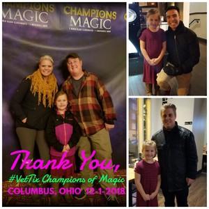 Amanda Lynn attended Champions of Magic - Saturday Matinee on Dec 1st 2018 via VetTix