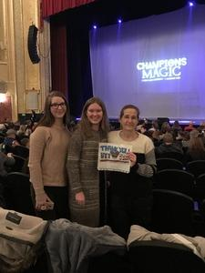 Emily attended Champions of Magic - Saturday on Dec 1st 2018 via VetTix