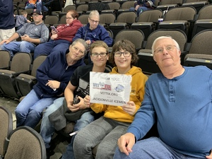 Theodore attended Jacksonville Icemen vs. Orlando Solar Bears - ECHL on Dec 27th 2018 via VetTix