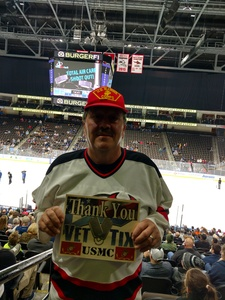 Thomas attended Jacksonville Icemen vs. Orlando Solar Bears - ECHL on Dec 27th 2018 via VetTix
