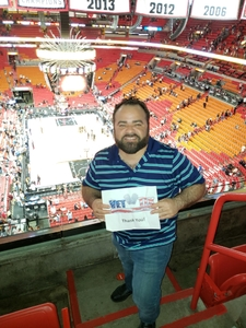 David attended Miami Heat vs. Brooklyn Nets - NBA on Nov 20th 2018 via VetTix