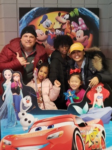 JAMES attended Disney on Ice Presents Worlds of Enchantment - Ice Shows on Feb 14th 2019 via VetTix