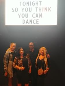 Mark attended So You Think You Can Dance Live! 2018 - Pop on Nov 23rd 2018 via VetTix