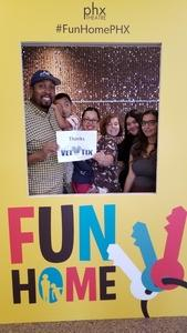 Rorrick attended Phoenix Theatre Presents - Fun Home - Matinee on Nov 24th 2018 via VetTix