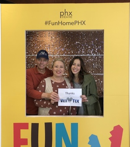 Bruce attended Phoenix Theatre Presents - Fun Home - Matinee on Nov 24th 2018 via VetTix