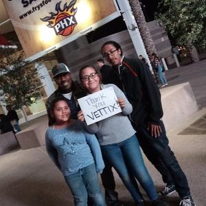 Myron attended Phoenix Suns vs. Indiana Pacers - NBA on Nov 27th 2018 via VetTix