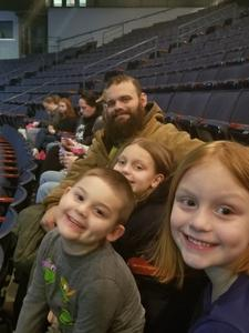 Torey attended Disney on Ice Presents Worlds of Enchantment on Jan 17th 2019 via VetTix