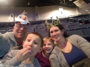 Megan attended Disney on Ice Presents Worlds of Enchantment on Jan 17th 2019 via VetTix
