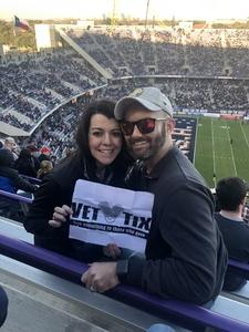 Natalie attended Lockhead Martin Armed Forces Bowl - NCAA Football on Dec 22nd 2018 via VetTix