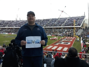 Kevin attended Lockhead Martin Armed Forces Bowl - NCAA Football on Dec 22nd 2018 via VetTix