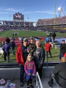 Caitlin attended Lockhead Martin Armed Forces Bowl - NCAA Football on Dec 22nd 2018 via VetTix